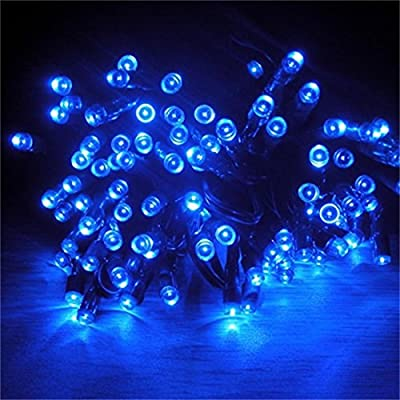 1Pc Blameless Popular 200x LED Solar Power Nightlight Outdoor Lamp Home Decor Decorations Party Colors Blue