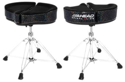 Ahead spinal glide spg bs black sparkle · sgabello batteria