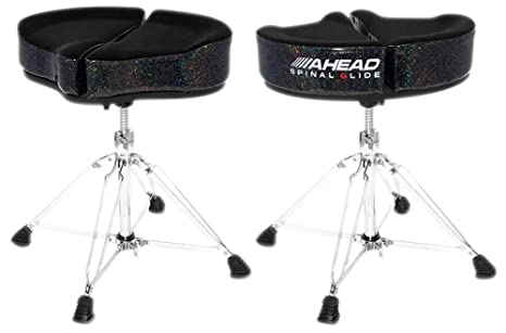 Ahead spinal glide spg bs black sparkle · sgabello batteria