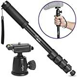 Photo : Altura Photo Camera Monopod and Ball Head Combo – Professional 360 Fluid Rotation for Canon, Nikon, Sony DSLR and Video
