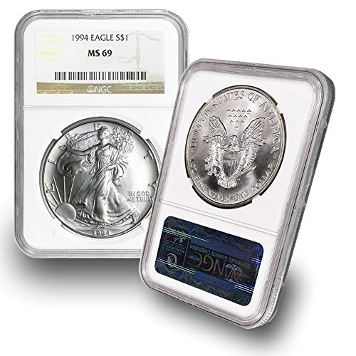 1994 American Silver Eagle $1 MS69 NGC ()