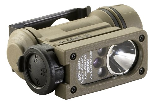 Streamlight 14514 Sidewinder Compact II Military Model Angle Head Flashlight, Headstrap and Helmet Mount Kit - 47 Lumens