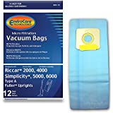 EnviroCare Replacement Micro Filtration Vacuum Cleaner Dust Bags Made to fit Riccar 2000, 4000 and Vibrance Series…