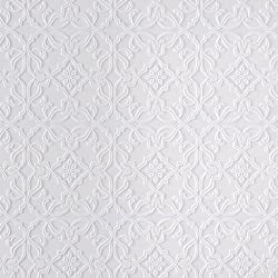 Brewster RD0671 Anaglypta Iron-Like Paintable Wrought Wallpaper, 21-Inch by 396-Inch, White