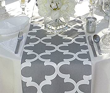 Grey And White Unlined Table Runner 12 X 72