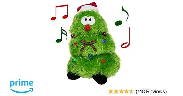 amazoncom simply genius plush animated stuffed animal toy singing dancing light up figure singing dancing christmas tree toys games - Animals Singing Christmas Songs