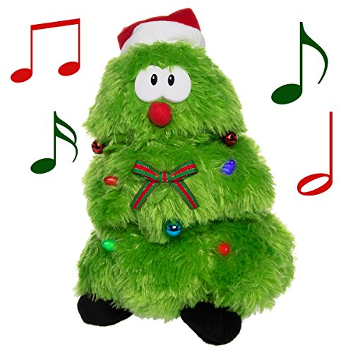 (Simply Genius Plush Animated Stuffed Animal Toy Singing Dancing Light Up Figure (Singing & Dancing Christmas Tree) )