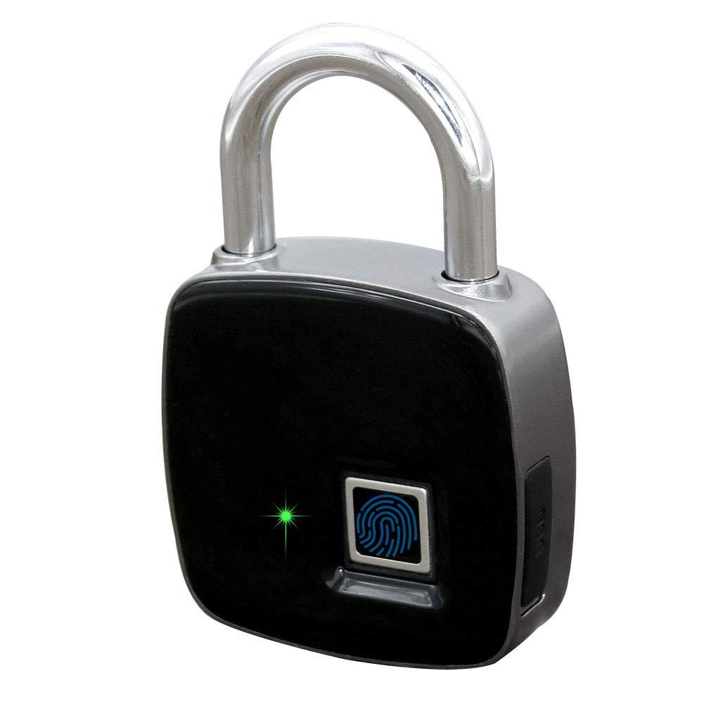 Fingerprint Padlock Master Lock Metal IP65 Waterproof Keyless Anti-Theft Rechargeable Quick Access Smart Padlock for Door, Office, Cabinet, Suitcase, Luggage, Backpack, Gym, Bike, Outdoor etc