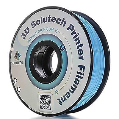 3D Solutech Aqua Blue 1.75mm PLA 3D Printer Filament 2.2 LBS (1.0KG) - 100% USA