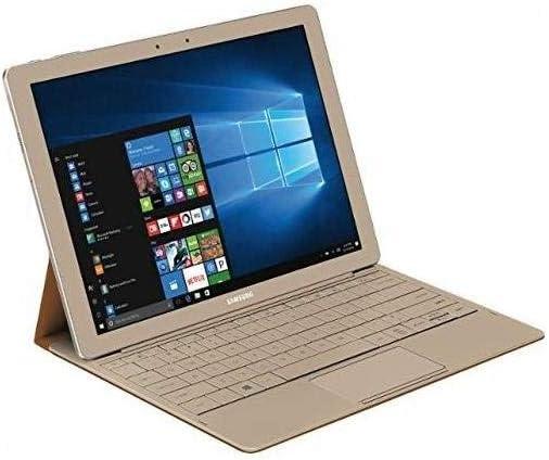 "Samsung Galaxy TabPro S 12"" Full HD+(2160x1440) High Performance TouchScreen Convertible 2-in-1 Laptop, Intel Core M3, 8GB RAM, 256GB SSD, Win10, Gold (Renewed)"