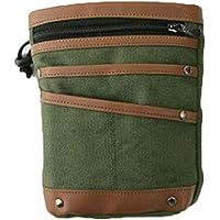 Detector de metal bolsa de lona encuentra cintura gancho bolsillos bolsa para detección de metal, Verde ejército