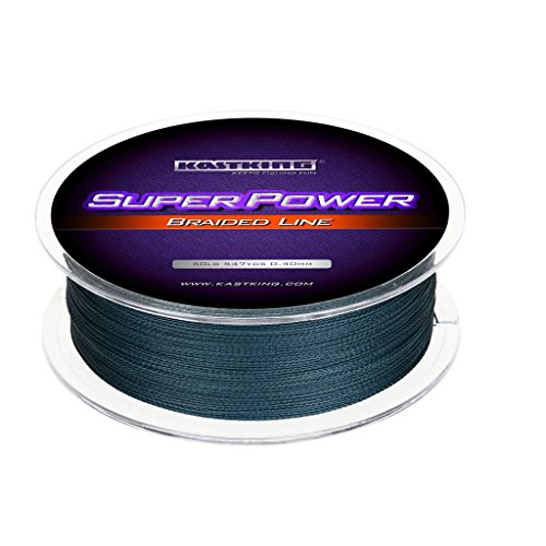 KastKing Superpower Abrasion Resistant Braided Fishing Line Incredible Superline - Zero Stretch, 50 LB (22.7KG) 0.40mm-327 Yds, Low-Vis Gray