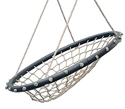 Swinging Monkey Products Hammock Lounge Chair 32u0026quot; Spider Web Swing,  Light Brown   Porch
