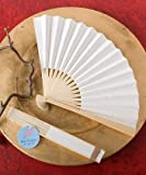 (Set of 100) White Paper Fans Wedding Favors, Health Care Stuffs