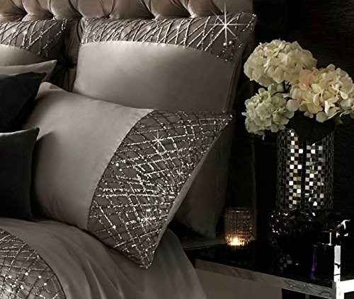 Kylie Minogue Esta Sequin Satin Silver Usa Full 200cm X