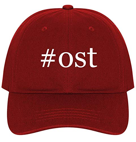 #ost - A Nice Comfortable Adjustable Hashtag Dad Hat Cap, Red