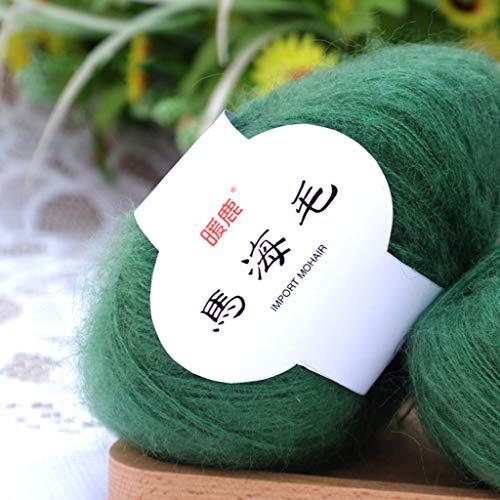 Hacloser 25g/Skein Soft Mohair Yarn for Knitting, Cashmere Wool Yarn DIY Shawl Scarf Crochet Thread Supplies (29#)