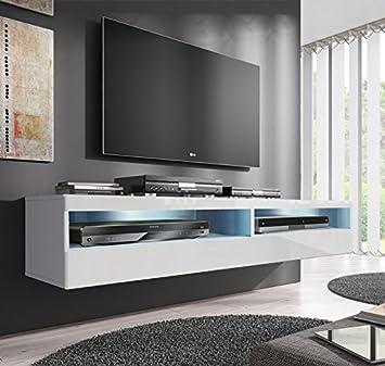 muebles bonitos mueble tv modelo tobic 160 cm en color blanco - Muebles Bonitos