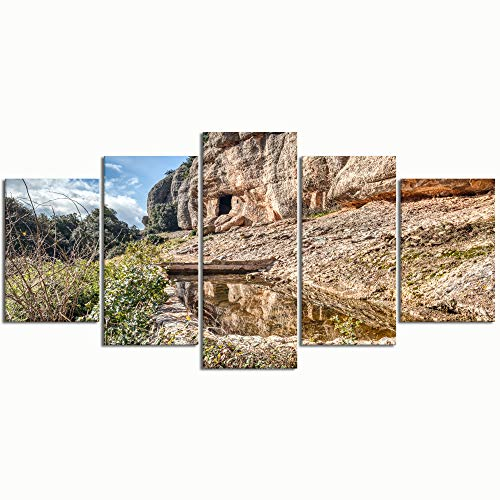 Paintings Modern Canvas Painting Wall Art Pictures 5 Pieces Els Obits Sant Llorenc del Munt i lObacDecor HD Printed Posters Frame
