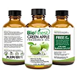BioFinest Green Apple Fragrance Oil - 100% Pure & Natural - Fresh Home Scent - Air Refresher - Relaxing Aromatherapy - Skin and Hair Care - FREE E-Book and Dropper (100ml)