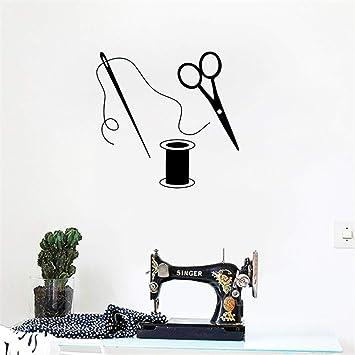 pegatina de pared pegatina de pared 3d Tijeras, decoración de arte, costura, sastre, para tela, sala de costura, arte, decoración mural, para el dormitorio: Amazon.es: Bricolaje y herramientas