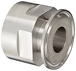 Dixon 22MP-R100 Stainless Steel 316L Sanitary Fitting, Clamp Adapter, 1\