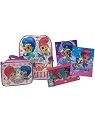 Shimmer and Shine Backpack with Detachable Insulated Lunch Bag Bundle - Pink and Purple Back to School Supplies...