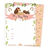 Pony Horse Happy Birthday Invitations Invite Cards (25 Count) with Envelopes and Seal Stickers Boys Girls Kids Party (25ct)