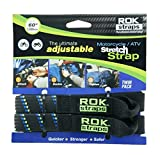 ROK Straps 18 to 60'' Adjustable - Motorbike Black/Blue - Twin Pack