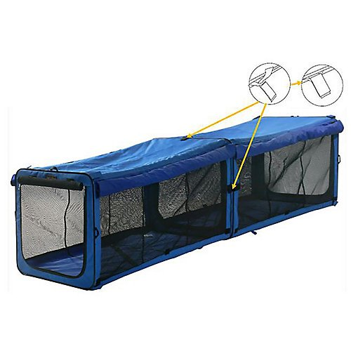 (One for Pets The Indoor/Outdoor Cat Enclosure Playpen, Blue 18″x18″x48″ (Long))