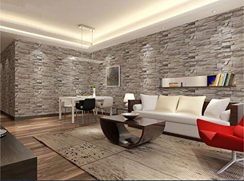 [スポンサー プロダクト]壁紙シール レンガ ブロック 模様 61cm × 10m ブリックパターン ストーン DIY 模様替え (浅黄)