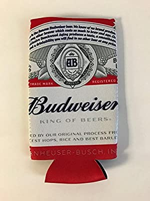 /</< Set of 2 />/> New Budweiser Beer 22 oz Can Coozies