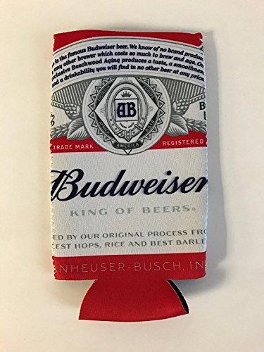 Budweiser Beer 25 Ounce Bottle Beer Can Cooler - 1 Pk
