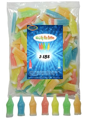 Wax Bottles Nik L Nip Mini Drinks 3 Lbs