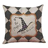 "Pillow Case,Matoen Halloween Pillow Case Linen Sofa Funny Ghost Pad Cushion Cover Home Decoration (Size: 18""x18"" (approx 45cmx45cm), A)"