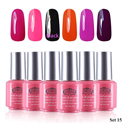 Perfect Summer Formaldehyde Free 6pcs 8ml Gel Nails Polis...