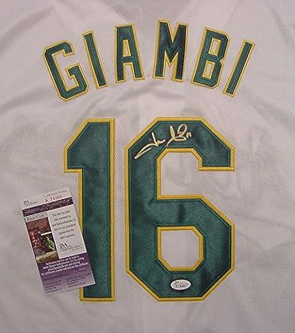size 40 69a5e 8e5f6 Jason Giambi Oakland Athletics Autographed White #16 Jersey ...