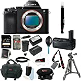 Sony ILCE-7S/B ILCE7SB ILCE-7S a7S Full Frame Mirrorless Interchangeable Lens Camera with Sony 64GB SD Card + Sony VGC1EM Digital Camera Battery Grip + Sony VCT-R100 Tripod + Accessory Bundle