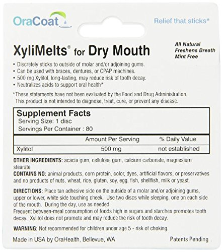 Oracoat - XyliMelts - Dry Mouth - Mint Free - 40 Count by Oracoat (Image #1)