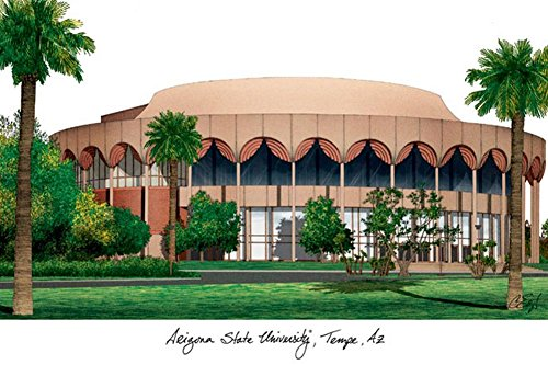 Lithograph Framed Arizona State University (Arizona State University Lithograph Print Photo)