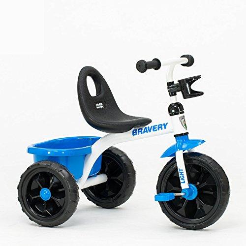 XQ 子供 軽量 EVA発泡ホイール 三輪車 1-3-5歳 ブルー 子ども用自転車 B07C7C8DRD