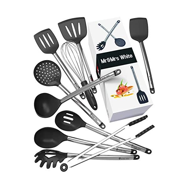 8 Silicone Stainless Steel Nonstick Kitchen Utensil Set