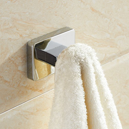 MARMOLUX ACC Stainless Steel Bathroom Hook Wall Mount Robe, Towel & Clothes Hook With Screw Fittings, Heavy Duty Waterproof,Corrosion & Discoloration Resistant, Chrome Finish outlet