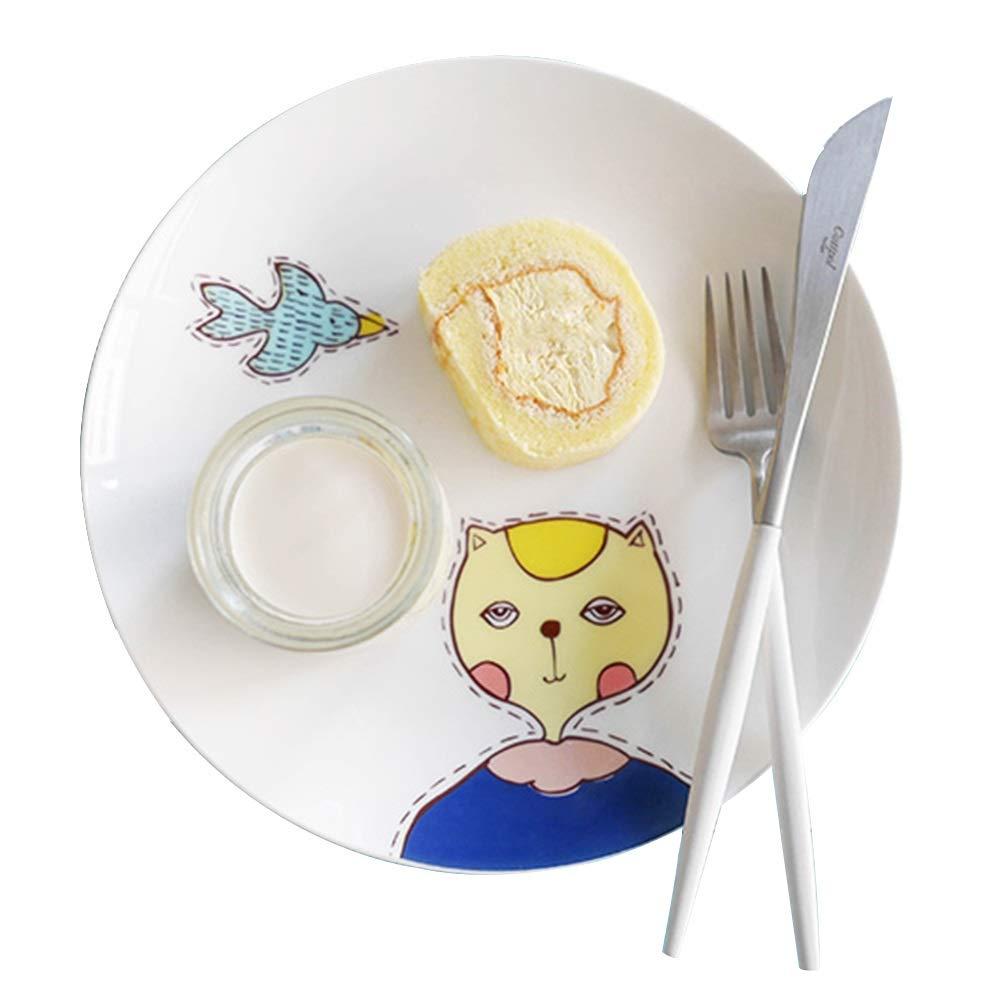Steak Plate Dish Home Western Dish Creative Ceramic Dishware (Design : B)