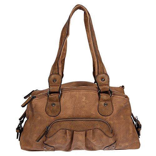 LLUPP - Bolso al hombro para mujer Marrón marrón 38x22x10 cm marrón