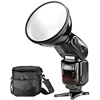 Neewer E-TTL HSS Slave Outdoor Flash Speedlite Strobe Light with Diffuser Lamp Reflector and Protective Bag for Canon DSLR Cameras, Such as Canon EOS 1100D 550D 5D Mark II III 70D (NW-180C)