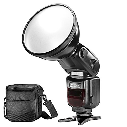 Neewer E-TTL HSS Slave Outdoor Flash Speedlite Strobe Light with Diffuser Lamp Reflector and Protective Bag for Canon DSLR Cameras, Such as Canon EOS 1100D 550D 5D Mark II III 70D (NW-180C) Slave Strobe Flash