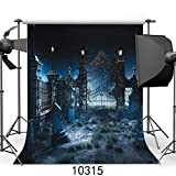 SJOLOON Halloween Night 10' x 10' Computer Printed Photography Backdrop Halloween Theme Photo Background JLT10315