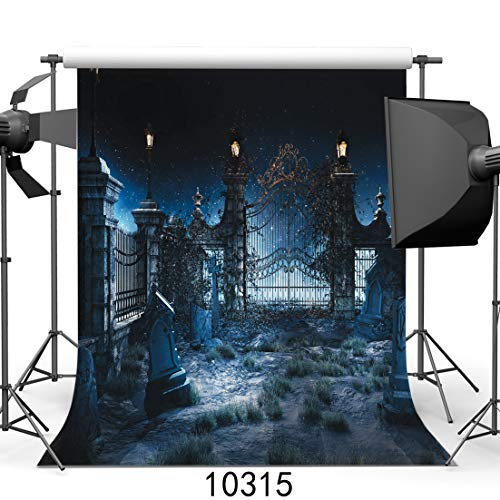 SJOLOON Halloween Night 10' x 10' Computer Printed Photography Backdrop Halloween Theme Photo Background JLT10315 by SJOLOON (Image #5)
