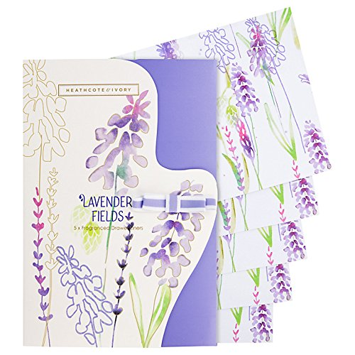 Heathcote & Ivory Wild English Lavender Luxury Fragranced Drawer Liners, Pack of 5 by Dpnamron